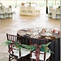 green, brown, Winter Wedding Flowers & Decor