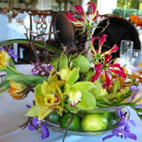 Reception, Flowers & Decor, green, Centerpieces, Flowers, Centerpiece, Water lily pond