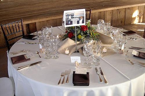 Reception, Flowers & Decor, Decor, brown, Table Numbers, Burlap