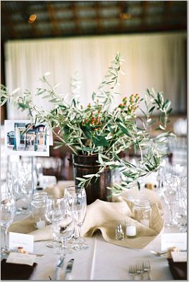 green, brown, Centerpieces, Rustic Wedding Flowers & Decor
