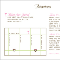 Stationery, pink, green, Invitations, Oliostyle