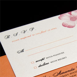 Stationery, orange, pink, Invitations, Oliostyle
