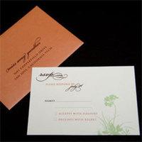 Stationery, orange, green, Invitations, Oliostyle