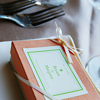 Favors & Gifts, orange, green, Favors