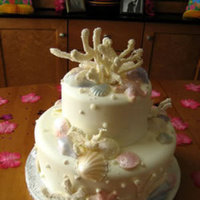 Cakes, cake, Beach, Beach Wedding Cakes, Seashell, Lastarr cakes co