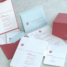 Stationery, red, blue, Invitations, Mywedding