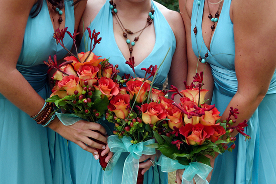 Flowers & Decor, Bridesmaids, Bridesmaids Dresses, Photography, Fashion, red, blue, Bride Bouquets, Bridesmaid Bouquets, Flowers, Bouquet, Duane peck kristi klemens photography, Flower Wedding Dresses