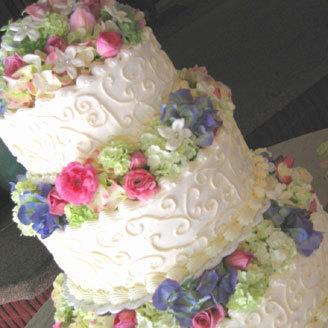Flowers & Decor, Cakes, pink, blue, cake, Flowers, Nicole ha