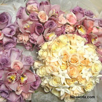 Flowers & Decor, white, purple, Bride Bouquets, Flowers, Bouquet, Nicole ha