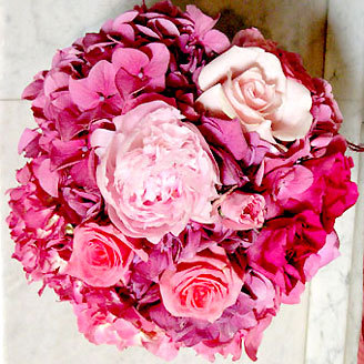 pink, Bride Bouquets, Bridesmaid Bouquets