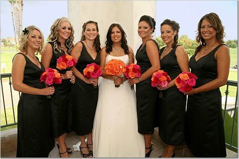 Bridesmaids, Bridesmaids Dresses, Fashion, orange, black