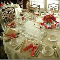Flowers & Decor, orange, red, Centerpieces, Flowers, Centerpiece