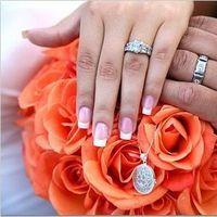 Flowers & Decor, orange, Bride Bouquets, Flowers, Bouquet, Rings