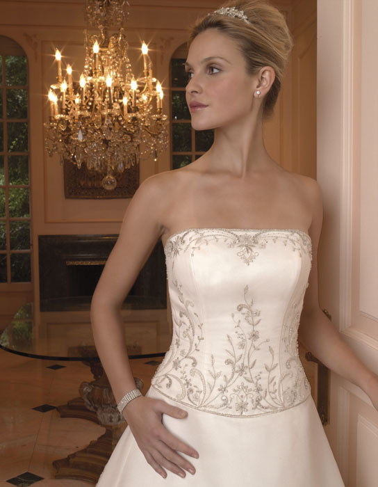 Wedding Dresses, A-line Wedding Dresses, Fashion, dress, Strapless, Casablanca bridal, Strapless Wedding Dresses, A-line, Beading, Beaded Wedding Dresses