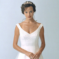 Wedding Dresses, One-Shoulder Wedding Dresses, A-line Wedding Dresses, Fashion, dress, Casablanca bridal, A-line, Off the shoulder, Off the Shoulder Wedding Dresses