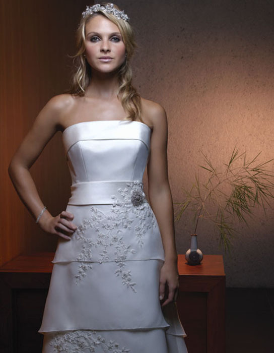 Wedding Dresses, Fashion, dress, Strapless, Casablanca bridal, Strapless Wedding Dresses, Tiered