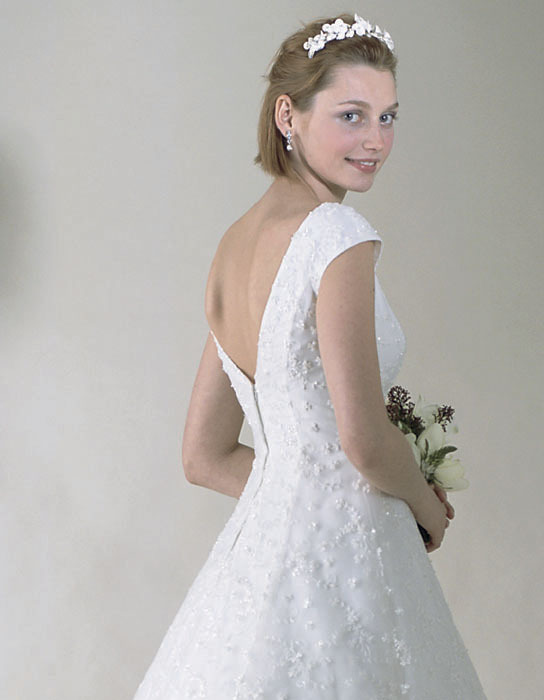 Wedding Dresses, Fashion, dress, Casablanca bridal, Sleeves, V-neck, V-neck Wedding Dresses