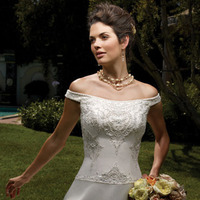 Wedding Dresses, One-Shoulder Wedding Dresses, A-line Wedding Dresses, Fashion, dress, Casablanca bridal, A-line, Off the shoulder, Off the Shoulder Wedding Dresses