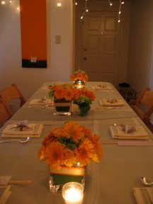 Reception, Flowers & Decor, orange, Centerpieces, Flowers, Centerpiece