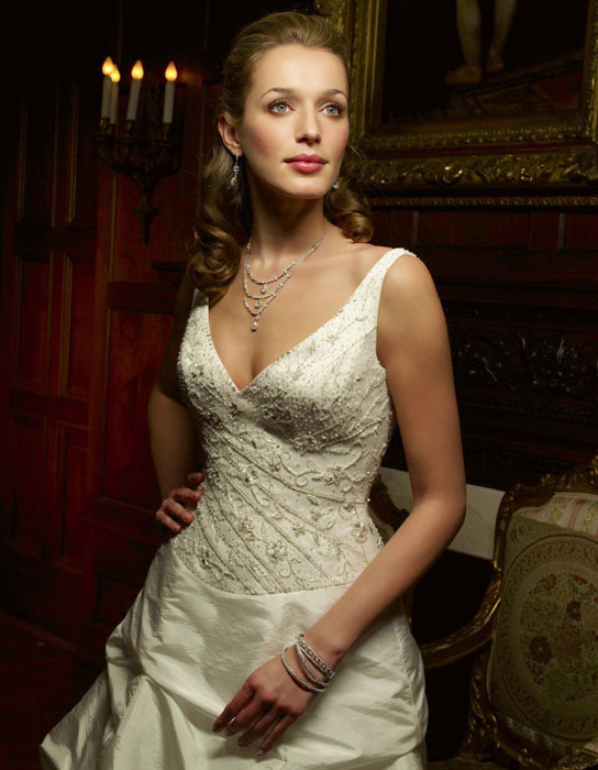 Wedding Dresses, Fashion, dress, Casablanca bridal, Beading, V-neck, V-neck Wedding Dresses, Beaded Wedding Dresses