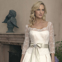 Wedding Dresses, Lace Wedding Dresses, Fashion, dress, Lace, Strapless, Casablanca bridal, Strapless Wedding Dresses, Sleeves, Sash