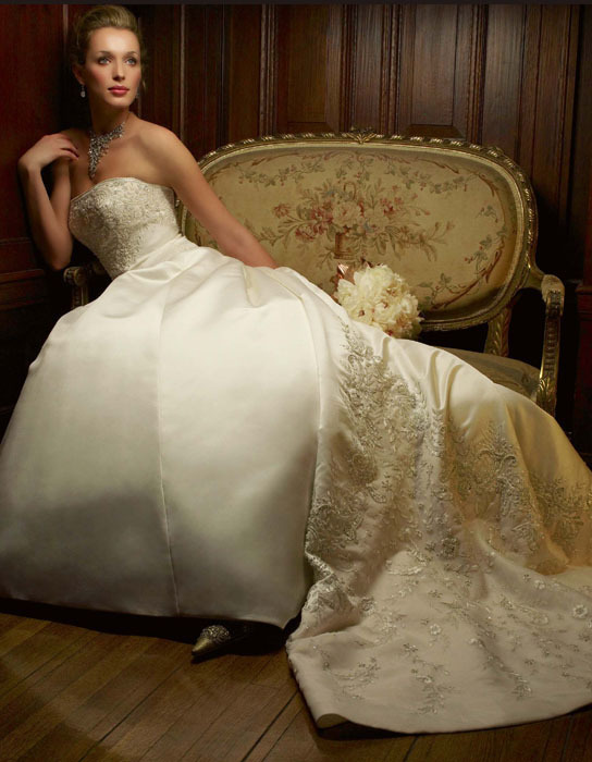 Wedding Dresses, Fashion, dress, Train, Strapless, Casablanca bridal, Strapless Wedding Dresses