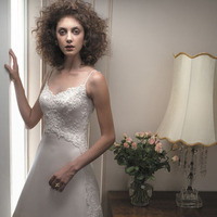 Wedding Dresses, Lace Wedding Dresses, Fashion, dress, Lace, Casablanca bridal, Spaghetti straps, Straps, Spahetti Strap Wedding Dresses