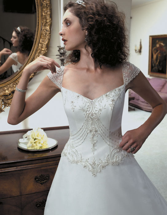 Wedding Dresses, A-line Wedding Dresses, Fashion, dress, Casablanca bridal, A-line, Cap sleeves