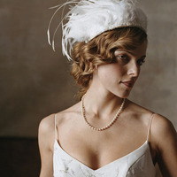 Beauty, Wedding Dresses, Fashion, dress, Feathers, Casablanca bridal, V-neck, V-neck Wedding Dresses, Hat, Feather Wedding Dresses