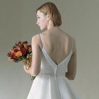 Wedding Dresses, Fashion, dress, Casablanca bridal, Spaghetti straps, Back, Spahetti Strap Wedding Dresses