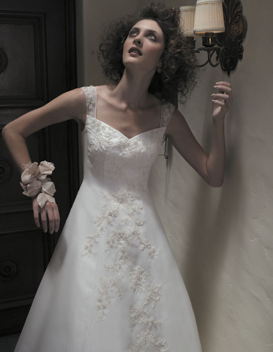 Wedding Dresses, A-line Wedding Dresses, Lace Wedding Dresses, Fashion, dress, Lace, Casablanca bridal, A-line, Straps