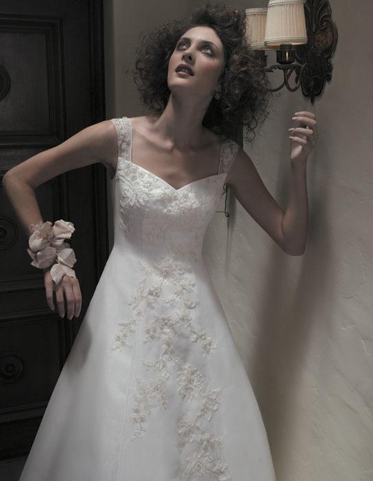 Wedding Dresses, A-line Wedding Dresses, Lace Wedding Dresses, Fashion, dress, Lace, Casablanca bridal, A-line, Straps
