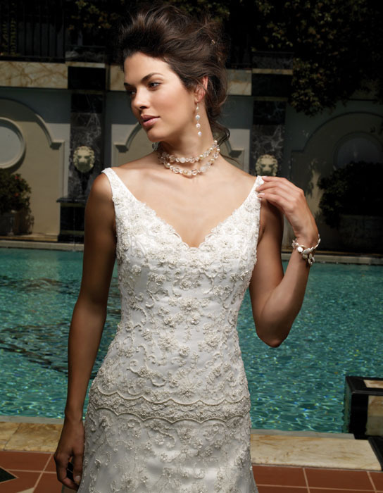Wedding Dresses, Lace Wedding Dresses, Fashion, dress, Lace, Casablanca bridal, V-neck, V-neck Wedding Dresses