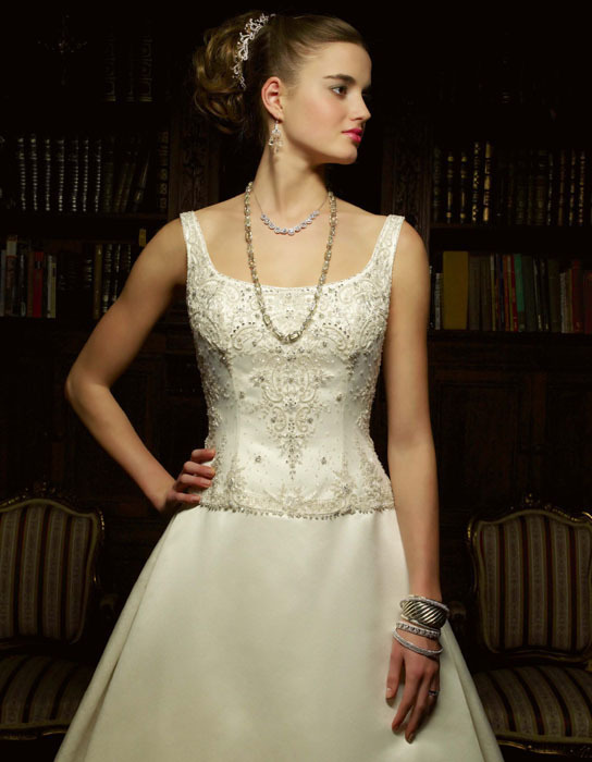 Wedding Dresses, A-line Wedding Dresses, Fashion, dress, Casablanca bridal, A-line, Beading, Straps, Beaded Wedding Dresses