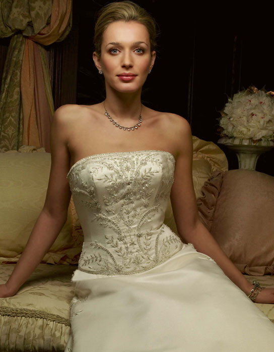 Wedding Dresses, Fashion, dress, Strapless, Casablanca bridal, Strapless Wedding Dresses, Beading, Beaded Wedding Dresses