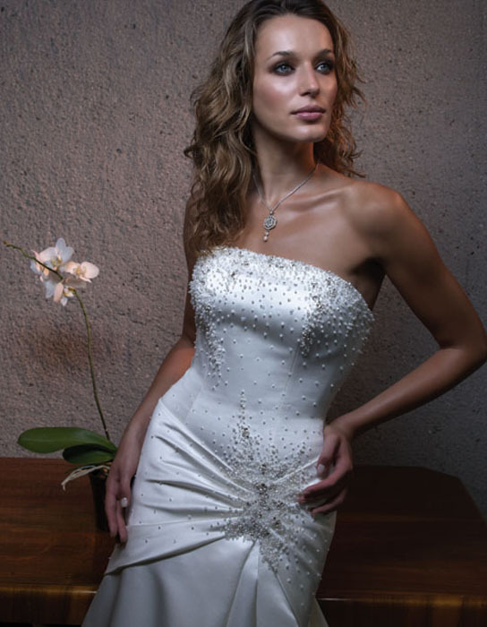 Wedding Dresses, Mermaid Wedding Dresses, Fashion, dress, Mermaid, Strapless, Casablanca bridal, Strapless Wedding Dresses, Beading, Beaded Wedding Dresses