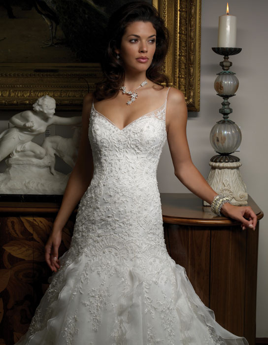 Wedding Dresses, Sweetheart Wedding Dresses, Lace Wedding Dresses, Fashion, dress, Lace, Sweetheart, Casablanca bridal, Spaghetti straps, Beading, Straps, Beaded Wedding Dresses, Spahetti Strap Wedding Dresses