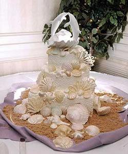 Cakes, cake, Beach, Beach Wedding Cakes, Seashell, Lastarr cakes co