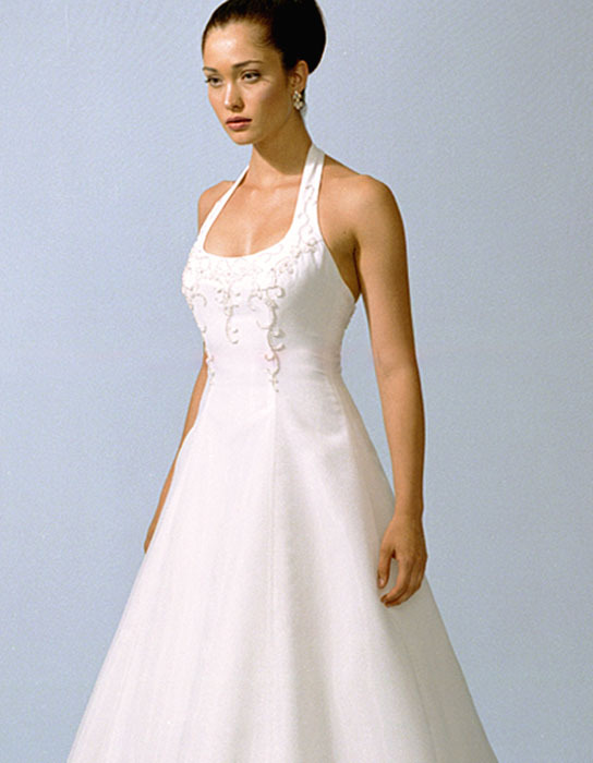 Wedding Dresses, A-line Wedding Dresses, Fashion, dress, Casablanca bridal, A-line, Halter, halter wedding dresses