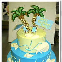 Cakes, yellow, blue, cake, Cinderella cakes