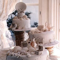 Cakes, cake, Beach, Cinderella cakes, Wedding beach cakes