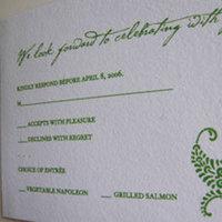 Stationery, green, Invitations, Papel vivo