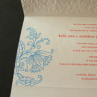 Stationery, red, blue, Invitations, Papel vivo