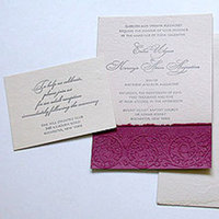 Stationery, purple, Invitations, Papel vivo