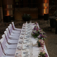 Reception, Flowers & Decor, purple, Flowers, Headtable