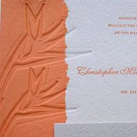 Stationery, orange, Invitations, Papel vivo