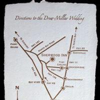 Stationery, Invitations, Map, Papel vivo