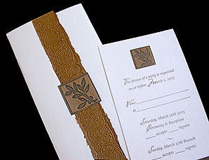 Stationery, gold, Invitations, Papel vivo