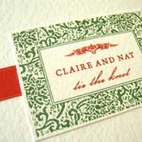 Stationery, red, green, Invitations, Papel vivo
