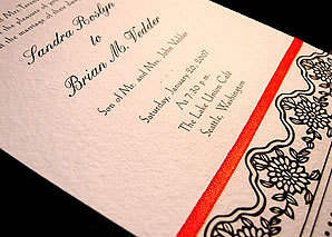 Stationery, red, black, Invitations, Papel vivo